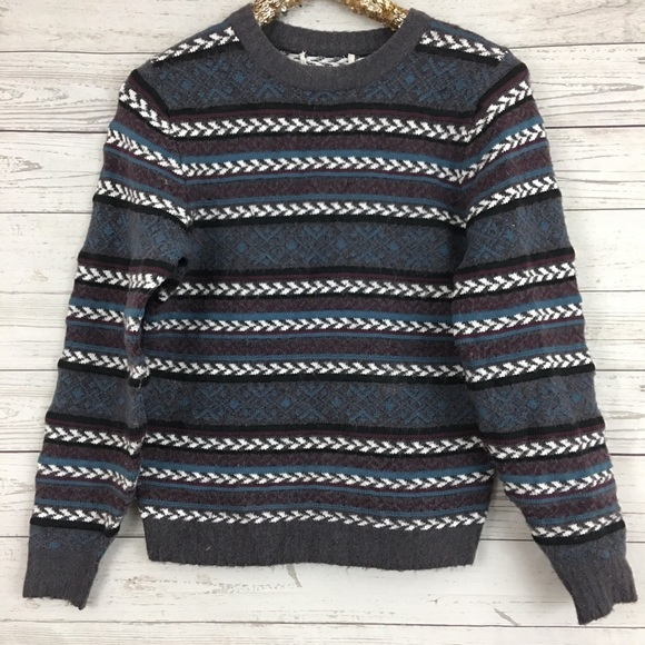 Treasure Bond fair isle chunky fall sweater stripe.  M 5b6c73acdcf8554dd9b5379b 27819ed61